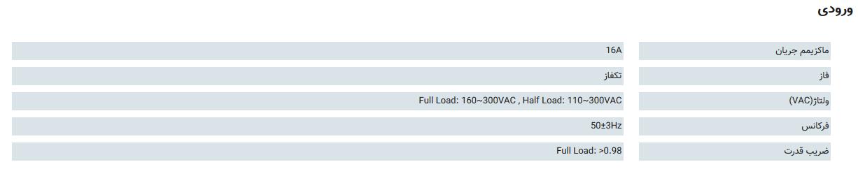 ورودی یو پی اس SDC 3000S-RT: