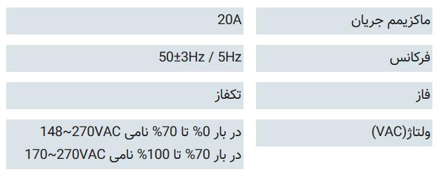 ورودی یو پی اسDsS 3000X-RT UPS: