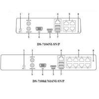 دستگاه ان وی آر هایک ویژن مدل DS 7104NI SN P