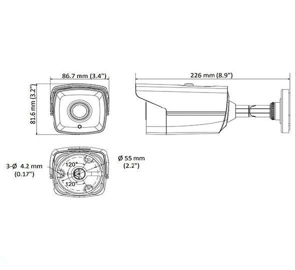 دوربین مداربسته هایک ویژن آنالوگ بولت مدل Turbo HD 2CE16H0T IT1F