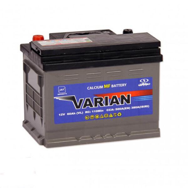 باتری واریان ۶۰ آمپر مخصوص خودرو (قطب موافق)
