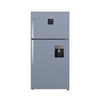یخچال و فریزر ایکس ویژن مدل بالا فریزر تیتانیوم TT580-AGD