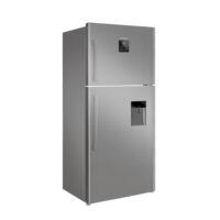 یخچال و فریزر ایکس ویژن مدل بالا فریزر استیل TT580-ASD